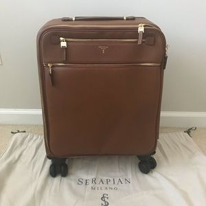 New Saffiano Leather Trolley Carry On Suitcase